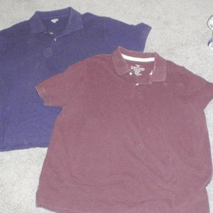 Two men's work polos